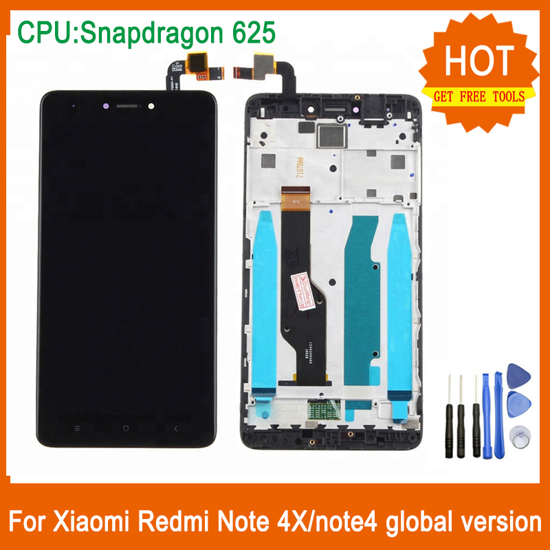 For <font><b>Xiaomi</b></font> <font><b>Redmi</b></font> <font><b>Note</b></font> 4X <font><b>Note</b></font> <font><b>4</b></font> LCD Display Touch <font><b>Screen</b></font> Digitizer Assembly With Frame For <font><b>Redmi</b></font> <font><b>Note</b></font> 4X Display Snapdragon 625 image