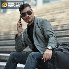 SECTOR SEVEN 2018 new Waterproof Military Style Suit Jacket Male Tactical Blazers Men Coat Slim Fit Cargo Pocket Design