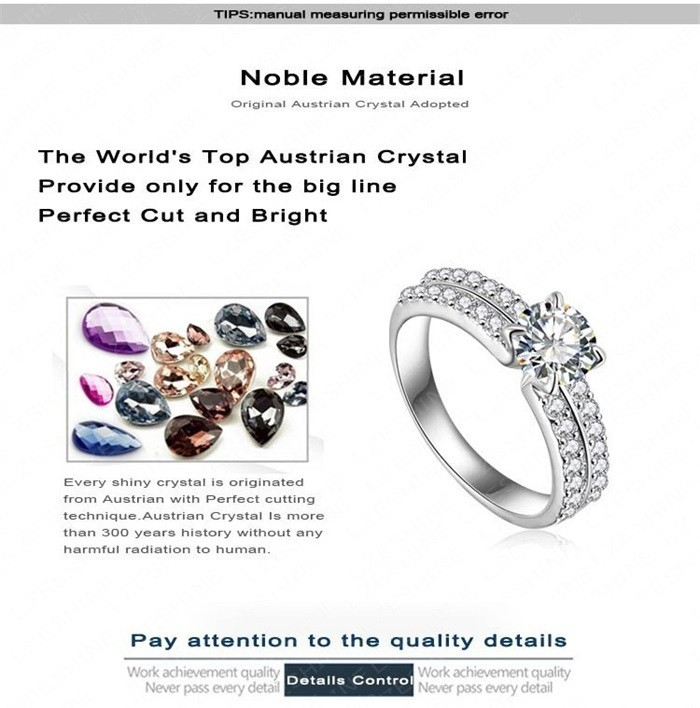 YANHUI New Trendy Arrows 1 Carat CZ Diamant Wedding Rings For