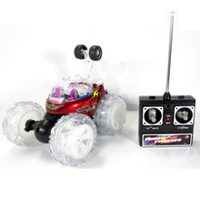 Free shipping rc Twister Remote Control Stunt Car with Flashing Lights and music FSWB
