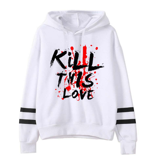BLACKPINK KILL THIS LOVE STRIPED HOODIE (3 VARIAN)