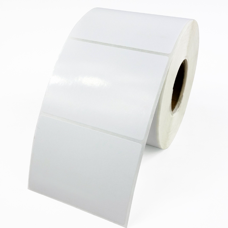 White <font><b>80</b></font> mm x <font><b>50</b></font> mm Matt PP Synthetic Barcode Shipping Stickers 1000 Labels Per Roll Waterproof Synthetic Label image