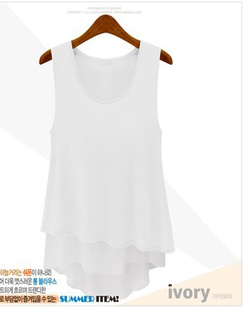 47b14242ea2 New Plus Size Women s Candy Color Stitching Fake Two Pieces Wild Chiffon  Camisole Dress Bottoming Summer Casual Sexy Mini Dress-in Dresses from  Women s ...