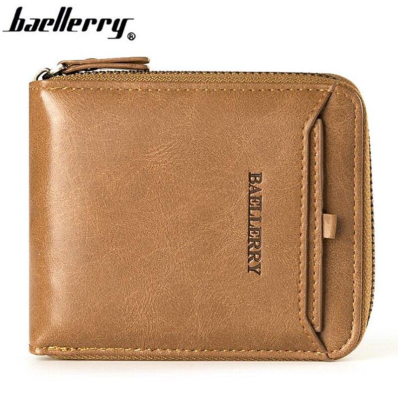 Baellerry Fashion Short Wallet Men Brand Design Leather Male Clutch Casual Purse Card Holder Coin Pocket for Men cartera hombre wallet