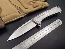 New Tactical Folding Knife D2 Blade ZT0808 steel handle Outdoor camping hunting survival Pocket Knife utility Knives hand Tools