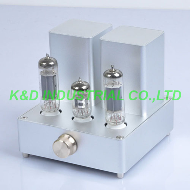 1pc Mini Sliver Tube AMP Audio Amplifier APPJ EL84 12AX7B Original Miniwatt N3 silver mini tube amplifier appj pa0901a 6n4 6p14 tube upgrade to el84 12ax7b original minwatt n3 smallest tube audio amplifier