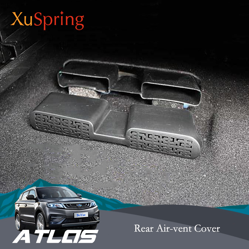 Car Rear Seat Floor Air Conditioner Vent Outlet Protective Cover Sticker For <font><b>Geely</b></font> <font><b>Atlas</b></font> Boyue Emgrand NL-3 Proton X70 2018 <font><b>2019</b></font> image
