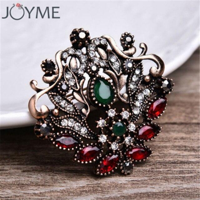 Joyme Vintage Rote Haare Zubehor Runde Harz Wassertropfen Crown