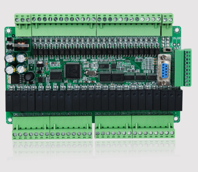 Free Ship High-speed FX1N FX2N FX3U-48MR/40MR PLC industrial control board FX3U-48MR 24 in 24 output plc controller fx3u 4ad adp fx3u 4ad adp new in boxed