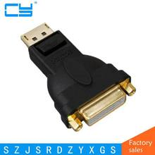 Free shipping high quality Display Port DP to DVI Female Adapter Convertor for Dell A T I Adaptor
