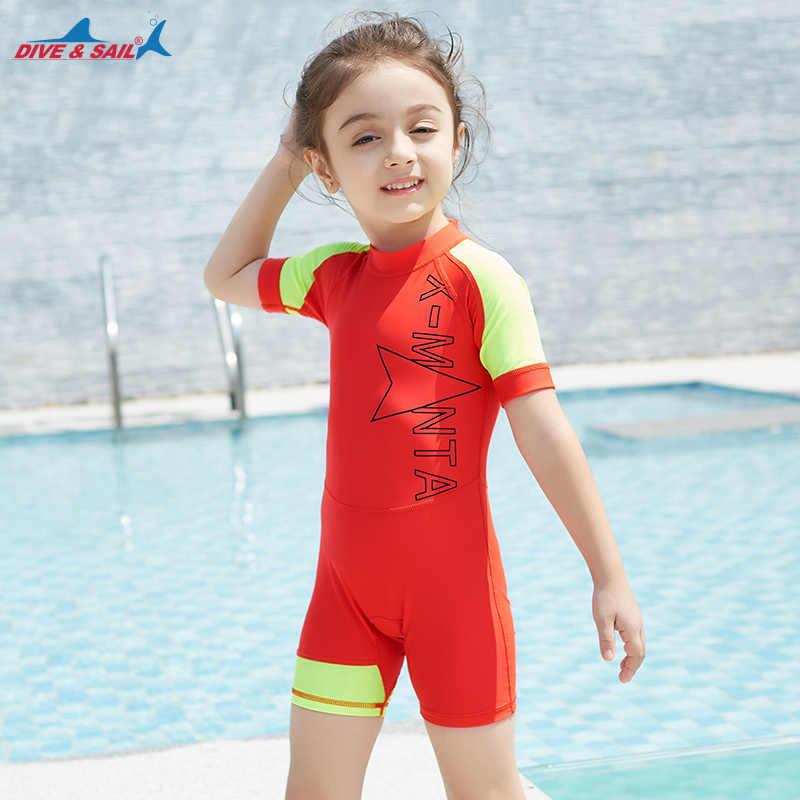 d75699dd5898e ... Kids One Piece Surfing UV Protection Swimsuit Diving Bathing Suits Boys  Girls Neoprene Scuba Triathlon Snorkel ...