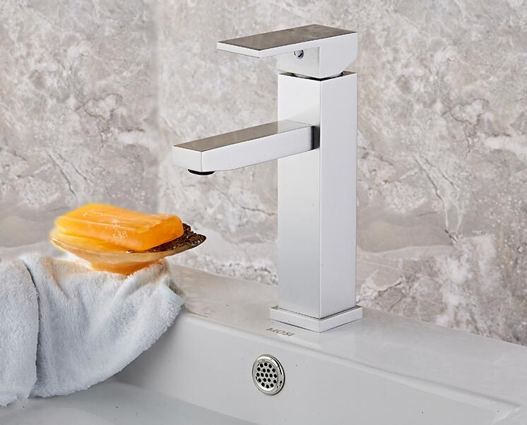 Space aluminum faucet bathroom mixer taps table wash basin faucet torneira Washing table hot and cold water faucet  Sink faucet