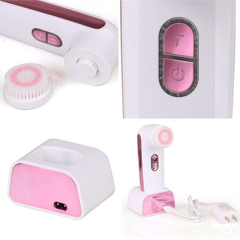 4 в 1 новая электрическая звуковая Очищающая щетка для лица спа уход для кожи Электрический скраб для лица глубокая Очищающая щетка # * - 2