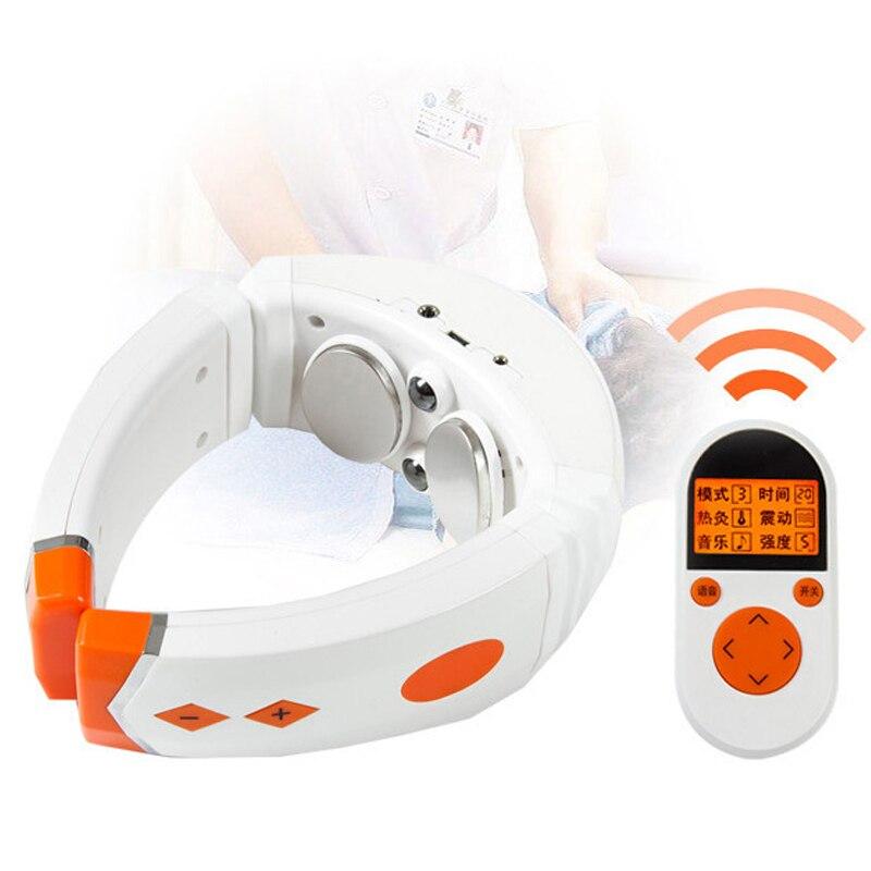 Électrique masseur de cou Cervical Acupuncture thérapie Soulagement de La Douleur Multifonction chauffage physiothérapie Soins de Santé pour le massage du cou
