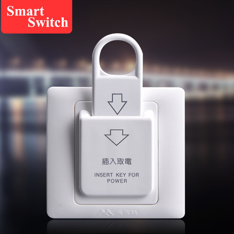 Reliable Hiread 125khz Insert Rfid Wall Energy Saving Hotle Key Switch With T5577 Card 30a 220v Electronic Induction Switch Access Control