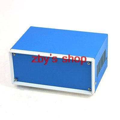 170mm x 130mm x 80mm Blue Metal Enclosure Case DIY Power Junction Box 4pcs a lot diy plastic enclosure for electronic handheld led junction box abs housing control box waterproof case 238 134 50mm