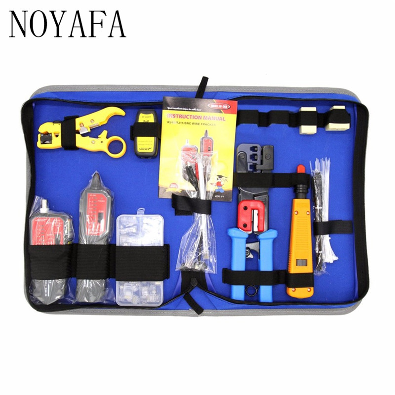 NF-1505 Network Repair Tool Kit With Wire Tracker NF-268 Wire Stripper Punch Down Tool Crimping Tool Maintenance Tool Set silent wire nf reference mk3 rca 2x0 8m