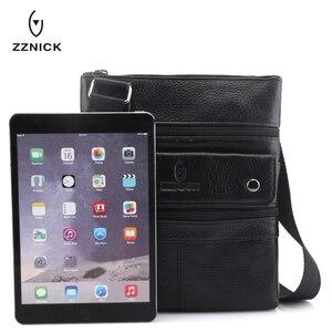 Image 5 - Zznic bolsa masculina de couro legítimo, bolsa masculina de tamanho pequeno em couro legítimo, modelo carteiro com alça carteiro, ideal para viagens, 2020 bolsas de mão