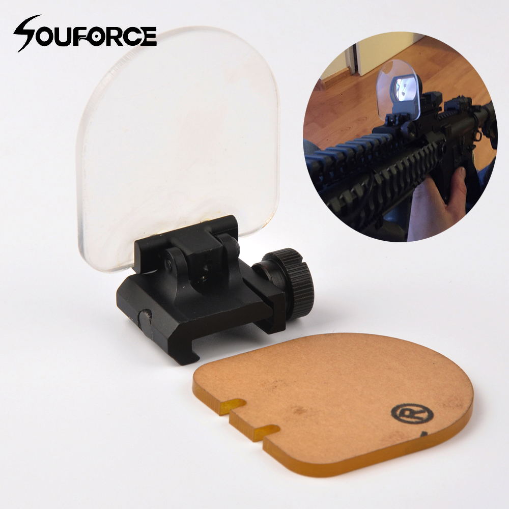 High Quality Airsoft Sight Scope Lens Screen Protector Cover Shield Panel 20mm Rail Mount for Rifle Scope Sight-in Scope Mounts & Accessories from Sports & Entertainment