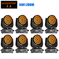 American Dj Equipment 8XLOT 36x15W LED Zoom Moving Head Light Black Housing Low Noise Over- Heat Protection for Concert Theater