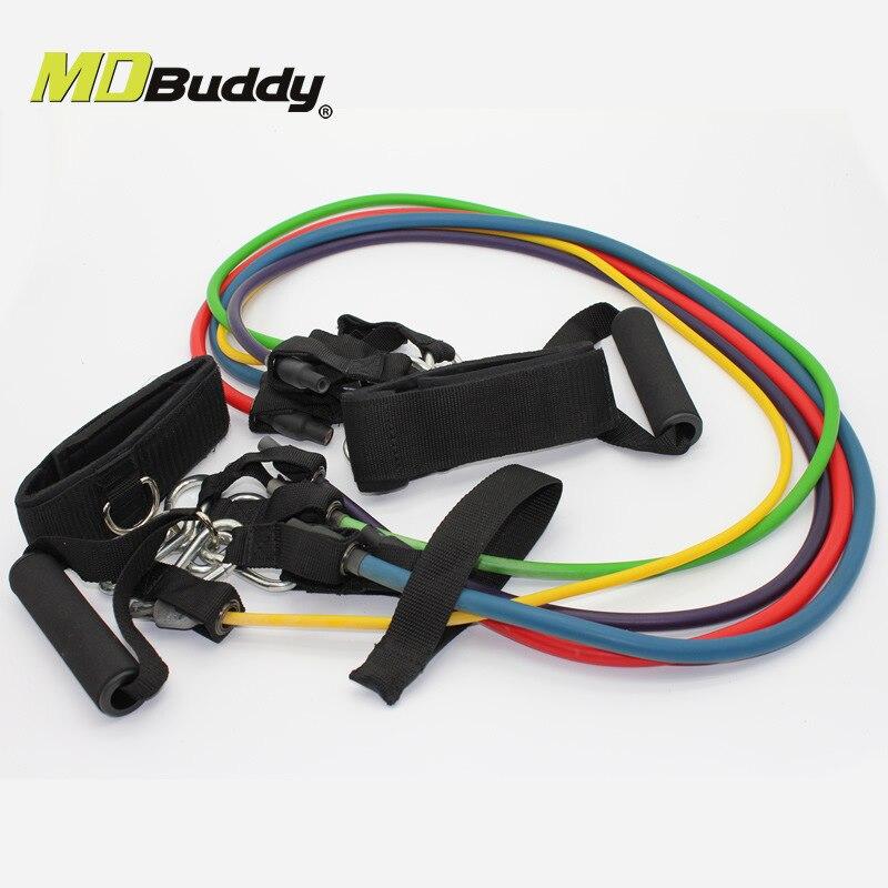 Enhanced version multifunction resistance yoga belts Latex Heavy Duty Fitness Pull Rope Set strength training fitness equipment