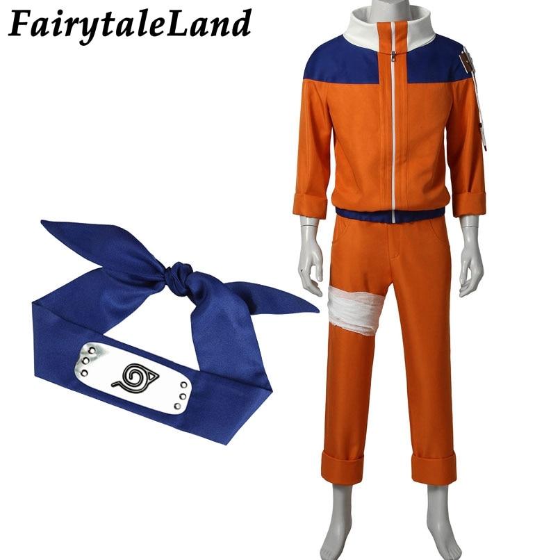 Uzumaki Naruto Cosplay Costume Christmas Halloween Costumes Unisex Fancy Costume Cosplay Naruto Suit Uzumaki Naruto Costume