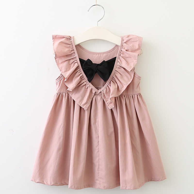 cd6b7f8607dc7 Girls Dress 2019 New Fashion Style Children Clothes Dress Summer Sleeveless  Hollow halter Kids Bow Baby Princess Clothing Dress