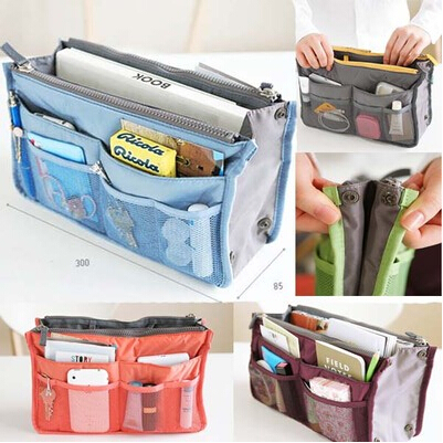 New Lady Women Insert Handbag Organiser Purse Large Liner Organizer Inner Bag Tidy Travel Rb002 In Top Handle Bags From Luggage On