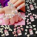 10Pcs/lot 3D Alloy Glitter Rhinestone DIY Decorations Nail Art Tips Stickers 7LP3