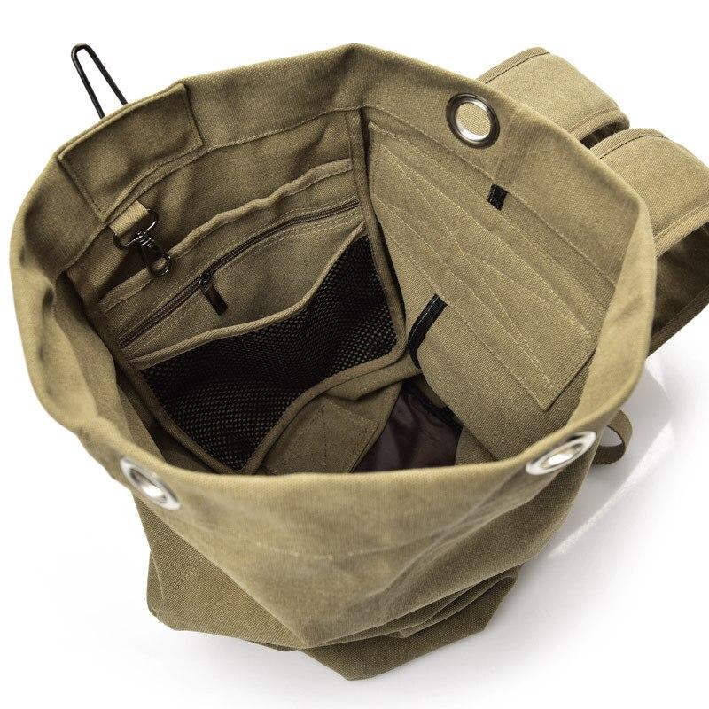 Купить с кэшбэком Huge Travel Bag Large Capacity Men backpack Canvas Weekend Bags Multifunctional Travel Bags Men Army Tourist Foldable Hand Bag