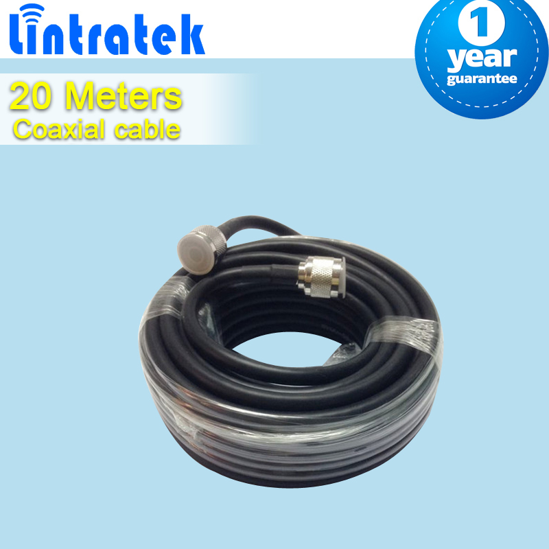 20 Meters High Quality N Male To N Male Connector 50ohm 5D Coaxial Cable For Mobile Phone Signal Booster Repeater Amplifier S23