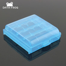 2 Pcs Plastic Storage Box For AA and AAA Battery Pack 4 AAA