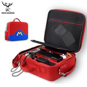 Image 3 - IBen Bolsa de almacenamiento portátil, Estuche de transporte de carcasa EVA para Nintendo Switch, accesorios resistentes al agua
