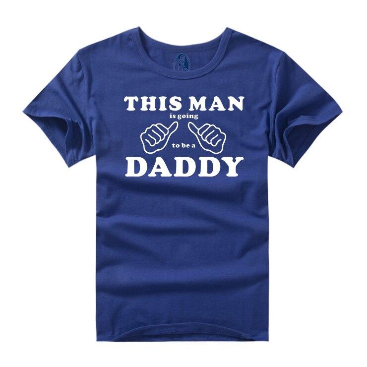 """2018 मजेदार न्यू डैड टीशर्ट फनी प्रिंट टी शर्ट शॉर्ट स्लीव प्लस साइज XXXL """"डैडी"""" डिजाइन होने वाली है"""