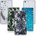 Для Sony Xperia M5 Case Cover Dual E5603 E5606 E5653 E5633 E5643 E5663 Прозрачный Цветок Красочные Отпечатано Мягкие TPU Case назад