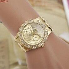 Римские цифры Женщины Золото Бизнес Кварцевые Часы Часы Моды для Женщин Часы 2017 Relojes Хомбре Дамы Часы Montre Femme 288