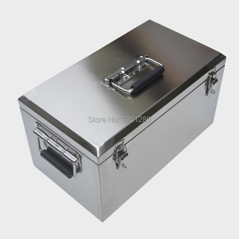 portable stainless steel toolcase home storage tool box Tools Packaging equipment transport box motorcycle trunk цена
