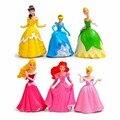 6pcs/set Princess Fairy Snow White Cinderella Toys Q Version PVC Action Figure Doll Model For Children Girl Gift #E