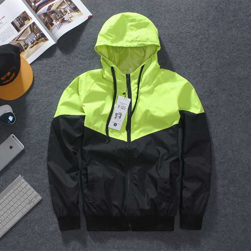 New Full Reflective Jacket Men Windproof Harajuku Windbreaker Jackets Hooded Hip hop Streetwear Night Shiny Zipper Coats Jacke in Jackets from Men 39 s Clothing