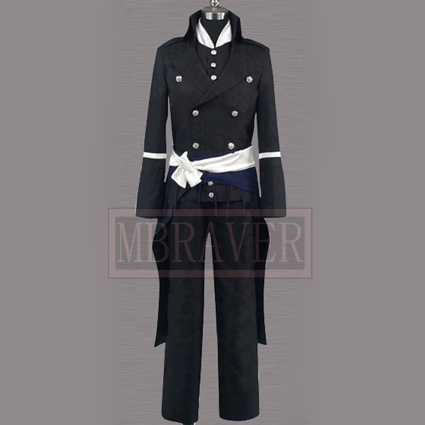 Hakuouki Saitou Hajime full set Japan Anime Cosplay Costumes & Accessories Custom Made Any Size
