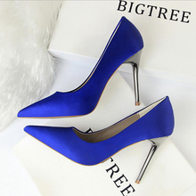 R06 HOT Promotions Women Pumps Spring/Autumn High heels Pointed Toe Female Weddi