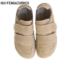 HUIFENGAZURRCS-Literary&artistic retro chic girlssingle shoes spring real leather leisure original shallow-mouthed women