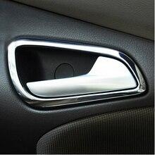Для Ford Focus 3 2012 2013 нержавеющая стальные межкомнатные двери ручной кладки декоративное кольцо 4 шт./компл., автомобильные аксессуары