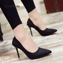 Cresfimix szpilki damskie women classic high quality grey office heels ladies fa