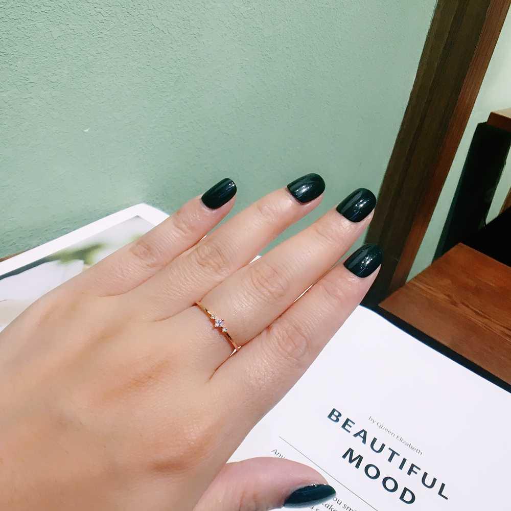 MIGGA haute qualité couleur or Rose carré cubique Zircon anneau en cristal pour femmes filles accessoires de mode