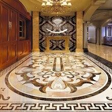 3D Custom  Wallpaper – Luxury European Style Living Room Floor Mural