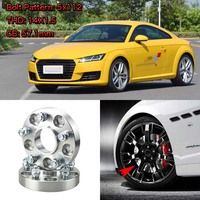 Jinke 4pcs 1 Wheel Spacers Adapters 5 Lug 5x4.4/5x112 14x1.5 Studs For Audi TT 2006+