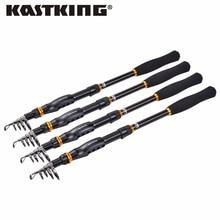 Kastking blackhawk de fibra de carbono telescópica caña de pescar 1.8 m, 2.1 m, 2.4 M, 2.7 M, 3.0 M, 3.6 M Spinning caña de Pescar de Hielo de Invierno