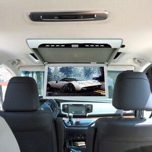 Image 3 - 19 дюймовый монитор HD 1080P, потолочный ТВ для автомобиля, откидной монитор, MP5 плеер, поддержка USB/SD/HDMI/Sperker/IR/FM передатчик
