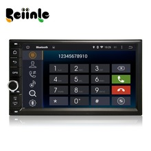 Beiinle Android 4.4.4  GPS Navigator DVD Radio  QUAD CORE 16G 2 Din Car 1024*600  for Universal